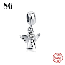 Здесь можно купить   SG 925 Sterling Silver Angelic Feathers Original Charm Fit Pandora Bracelet Pendant Authentic Jewelry Christmas Gift SG03814 Fashion Jewelry