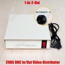 1 в 2 Выход Композитный видеосигнал BNC разъем видеораспределитель AC110V 220 V коэффициент усиления сигнала система Скрытого видеонаблюдения цифровая видеозапись Системы 1-2CH видео разветвитель