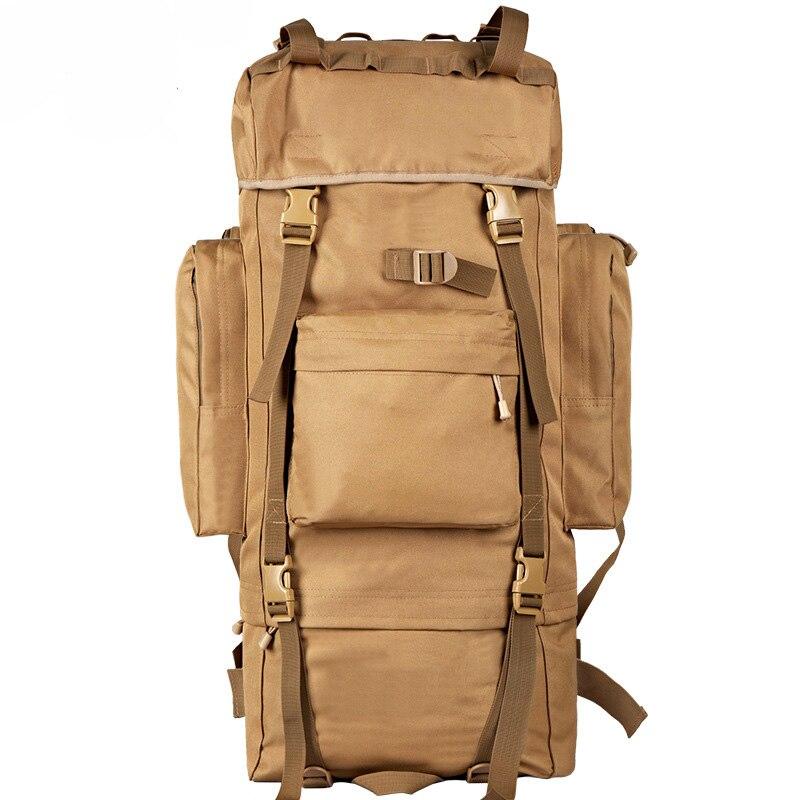 70l metal steel frame bag mens new military backpack waterproof nylon backpacks