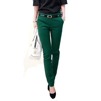 Office Lady Long Pencil Pants