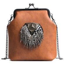 Новинка, Брендовая женская сумка на плечо с заклепками, дизайнерская женская сумка через плечо, женская сумка из искусственной кожи с блестками и кисточкой, сумка-мессенджер 155