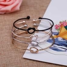 KISSWIFE 4 цвета дизайн Чистая медь литье Любовь Узел открытый металлический браслет Женщины Мужчины браслет