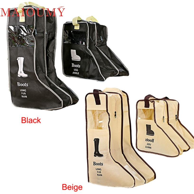 My House 1 pair Men and Women Boots Storage Bags Chosen Folding Households Novelty Shoes Organizer