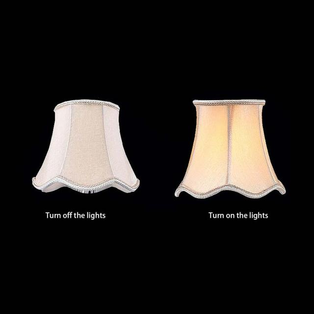 Magnifiek Ripple Lampenkappen Kroonluchter Ceilling Lamp Stof Lampenkap &XL29