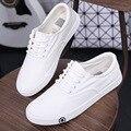 2016 новой весны и лета студент женский Корейский белый холст обувь зашнуровать обувь обувь от имени приливной плоские