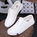 2016 new spring and summer student female Korean white canvas shoes lace up shoes shoes on behalf of a tidal flat