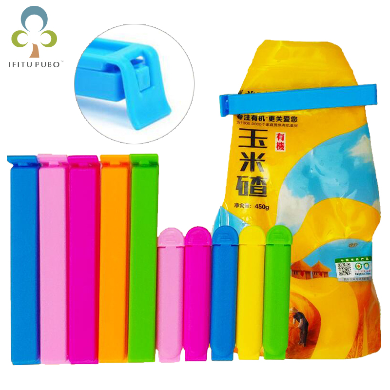 20Pcs/10Pcs Portable New Kitchen Storage Food Snack Seal Sealing Bag Clips Sealer Clamp Plastic Tool Kitchen Accessories GYH(China)