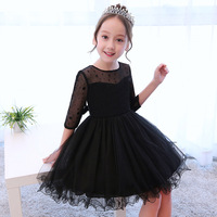 Black Fashion Girl Dresses 5 13 Years Old Birthday Party Tutu Dress Teenager Girls Prom Evening Formal Ball Gown Clothes 6120