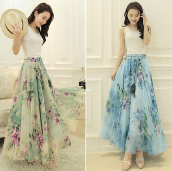 Flower Chiffon Skirt - Flowers Ideas