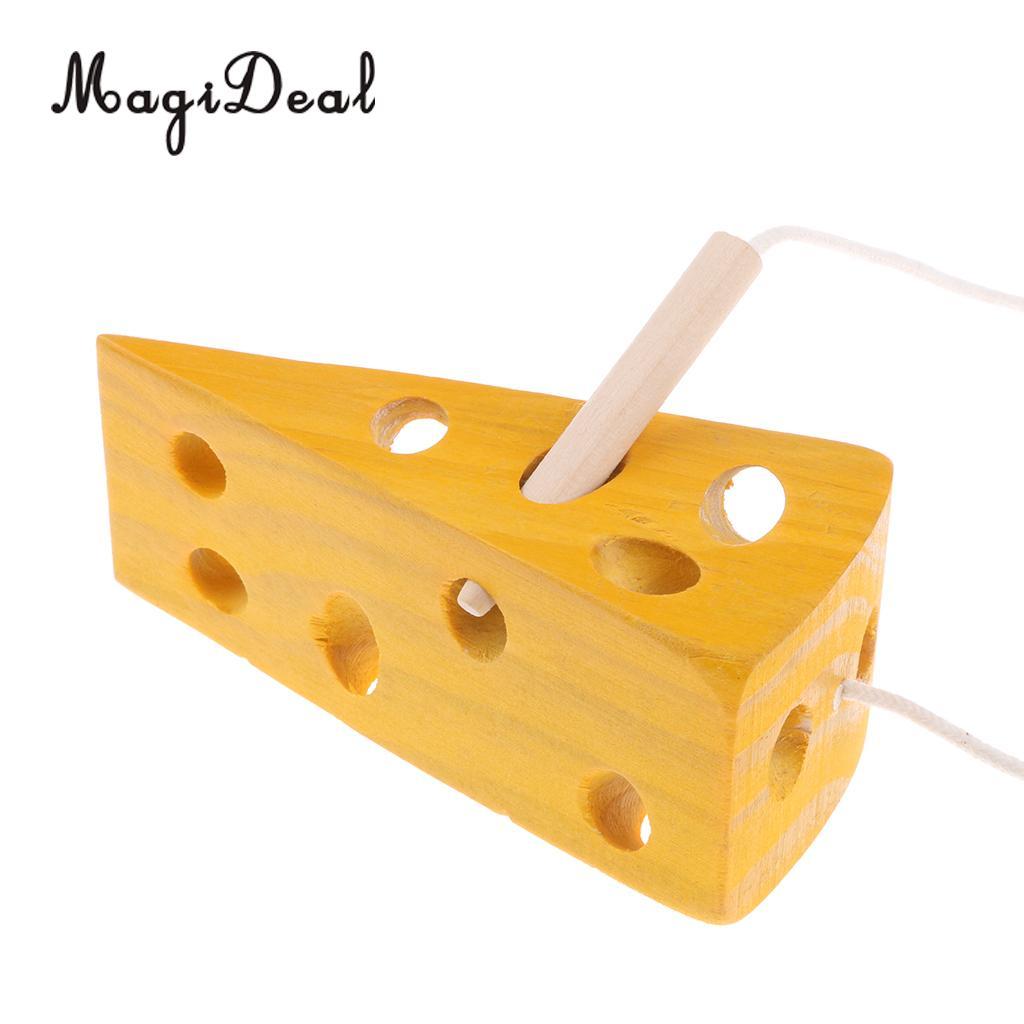 Wooden Montessori Lacing Game Kids Preschool Early Developmental Toy Set