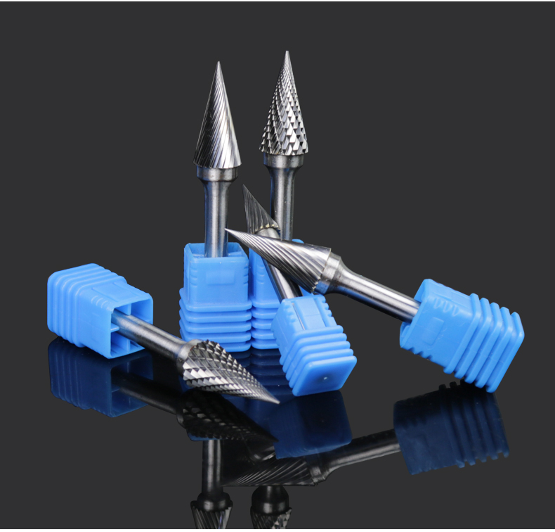 6-12mm 6mm Shank Hard Alloy Eotary File Milling Cutter Tungsten Steel Grinding Head Conical Tip Rotary Burrs Metal TC Cutters h1636m06 16mm 6mm shank carbide rotary file milling cutter tungsten steel grinding head woodwork carving tools carbide burrs