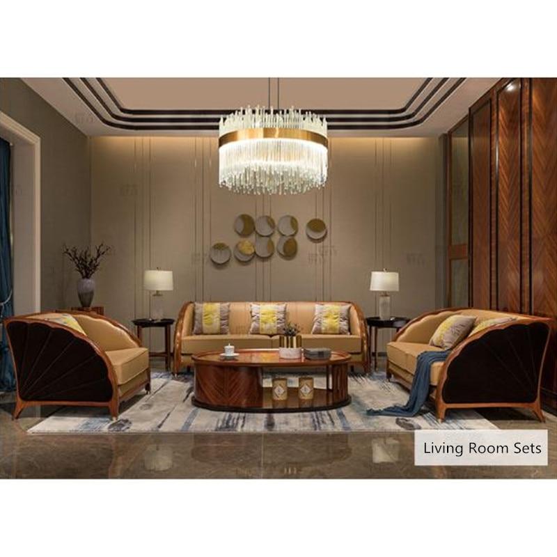 modern 2019 lounge sofa set living room furniture wooden divano ...
