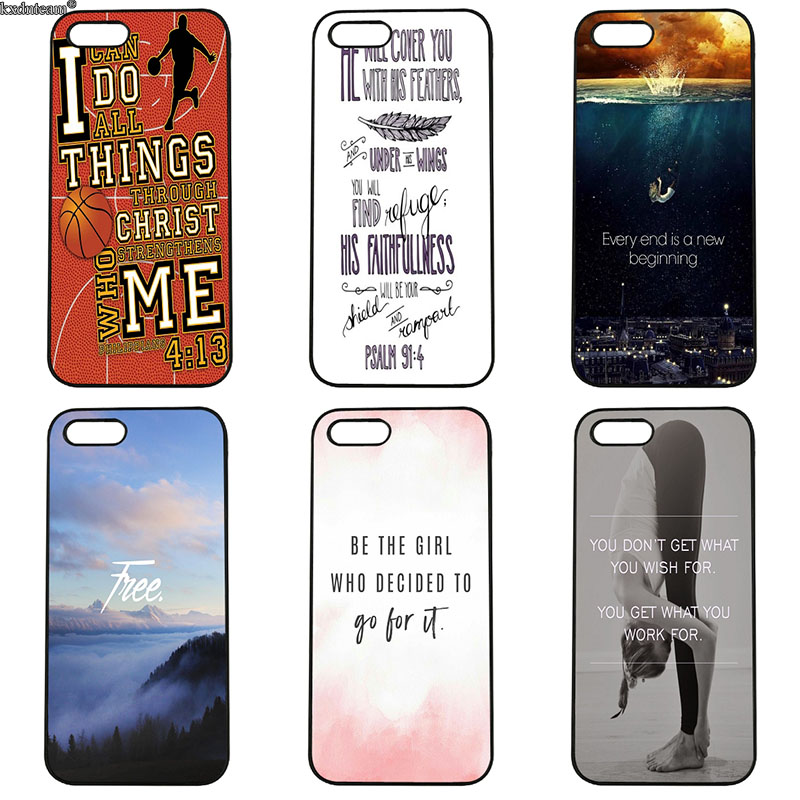 Positive Motivation Life Quotes Cell Phone Cases Hard PC Cover for iphone 8 7 6 6S Plus X 5S 5C 5 SE 4 4S iPod Touch 4 5 6 Shell
