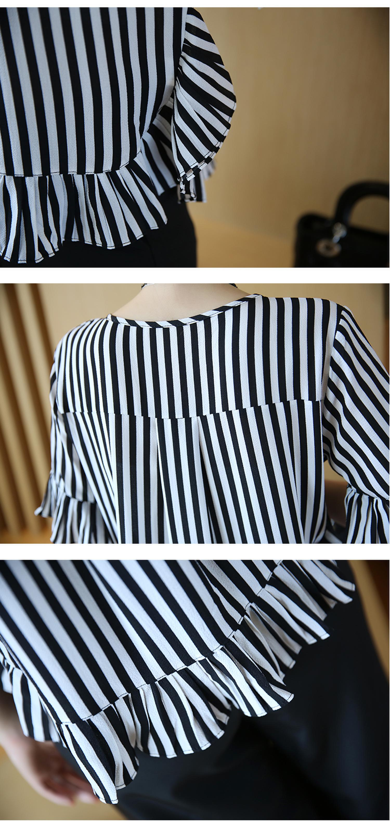 XL -4XL New women's clothing big yards wide leg korean fashion stripe pleated chiffon blouse suits summer two-pcs set loose 22