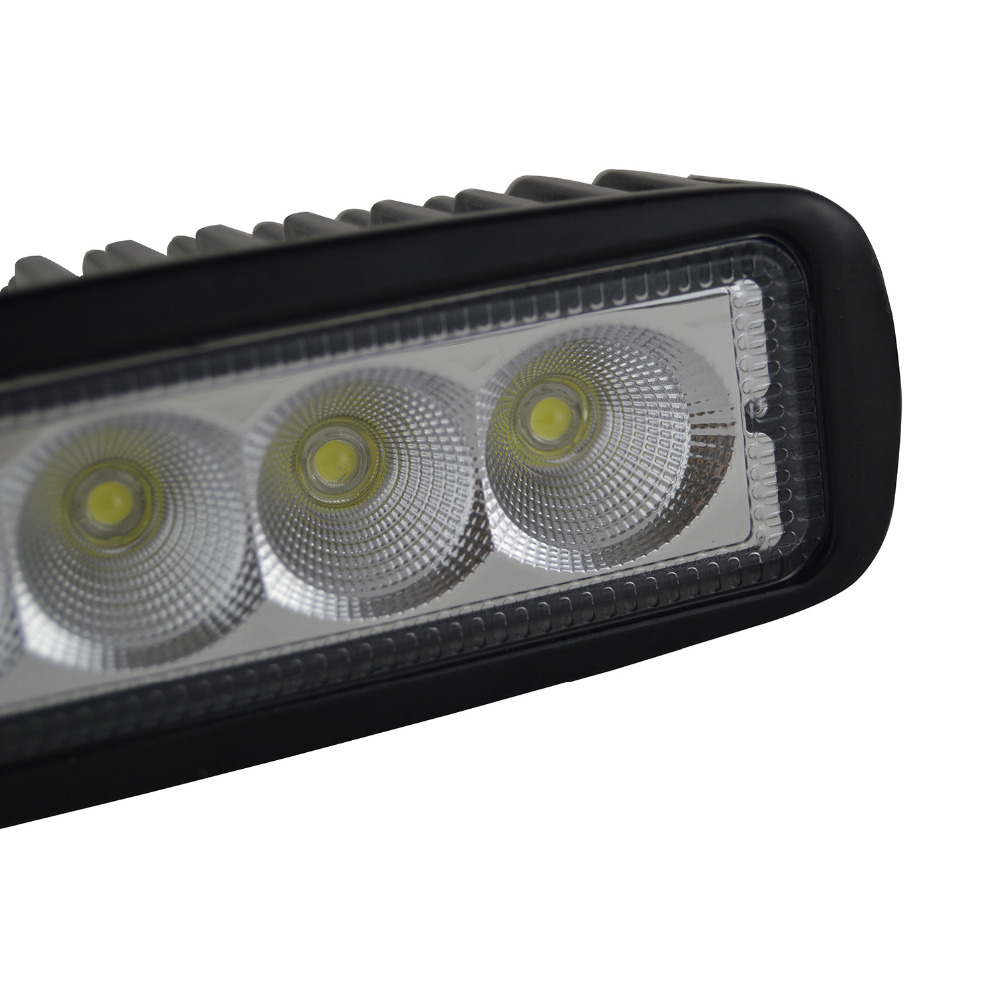 "Image 4 - 10Pcs 6"" 18W LED Light Bar 12V 24V Motorcycle Offroad 4x4 ATV Spot Daytime Running Lights Truck Tractor Warning Work SpotlightLight Bar/Work Light   -"