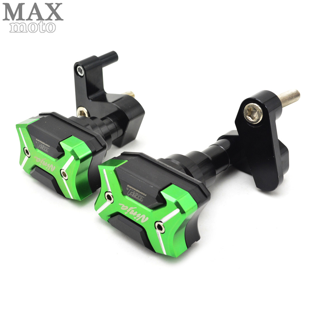 Motorcycle Frame Sliders Crash Engine Guard Pad Aluminium Side Shield Protector For Kawasaki Ninja ZX10R 2008 2009 2010 motorcycle frame sliders crash engine guard pad aluminium side shield protector for kawasaki ninja zx6r 636 2009 2010 2011 2012