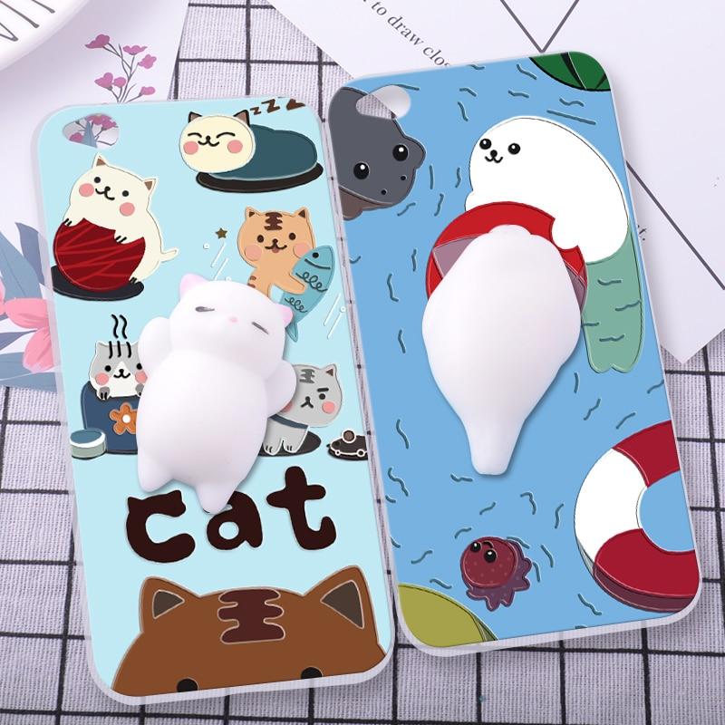 Shuicaoren силиконовый чехол для ZTE Нубия m2 телефон оболочки Релакс котик 3D мягкими Pinch крышка Fundas для Нубия m2 Lite