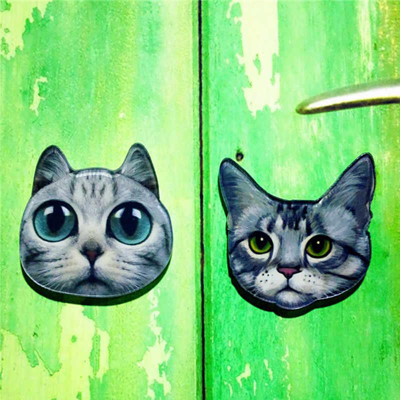 1 Pcs Meow Ster Mensen Acryl Broche Badges Pin Rugzak voor Vrouwen Mannen Kleding Broche Pin op tassen schoenen sjaal gesp kat sieraden