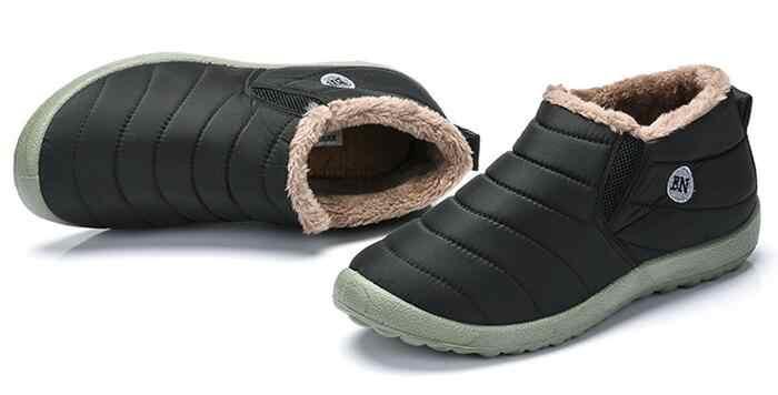 LFFZ 2018 yeni Su Geçirmez Kadın Kış Ayakkabı Kar Botları Sıcak Kürk Içinde Antiskid Alt Tutmak Sıcak Anne günlük çizmeler ST228