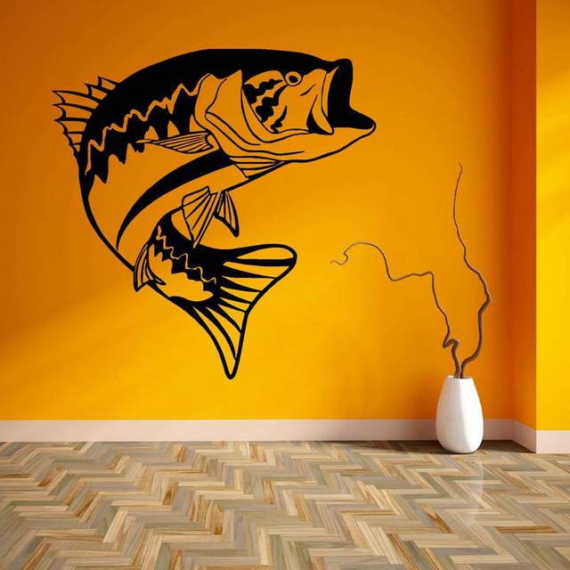 Fishing Sticker Name Fish Bass Decal Angling Hooks Tackle Shop ...