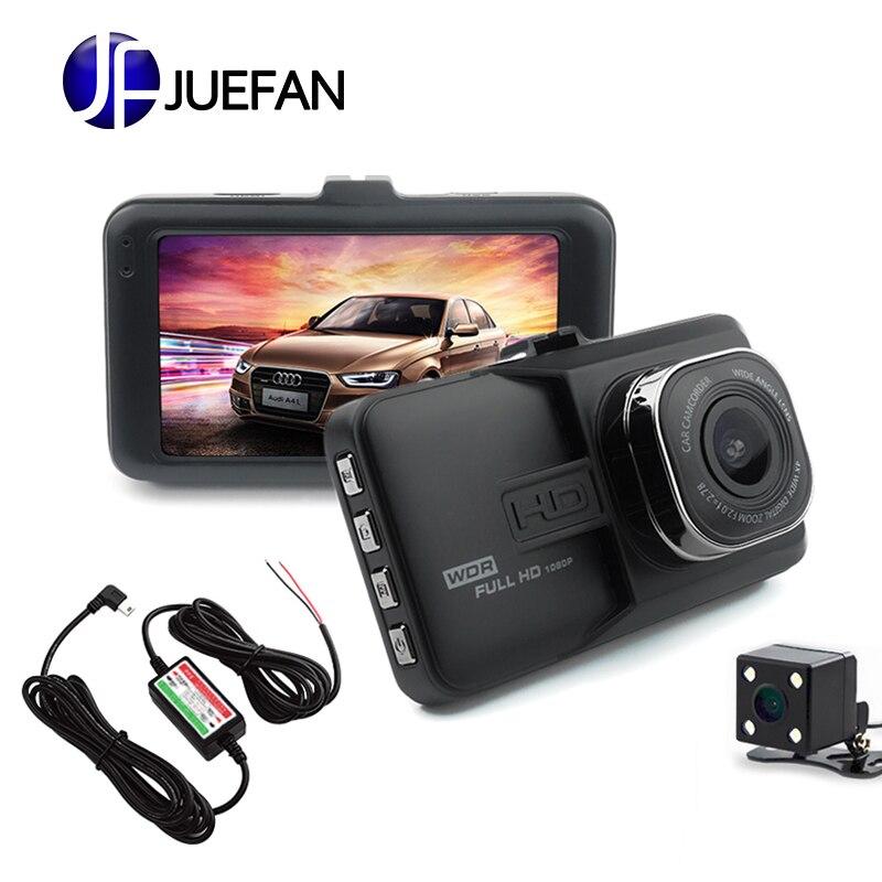 JUEFAN SD18 Car Camera DVR Car DVRS 170 Degree Angle Full HD 1080P Dual Lens Video Recorder Black Box Russian Language Dash Cam