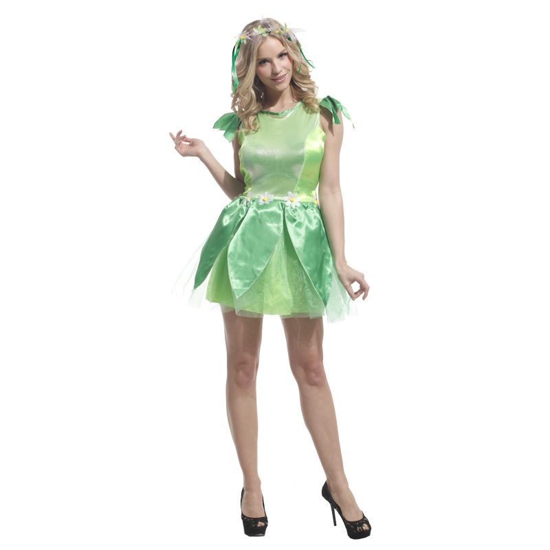 2017 novelties green elf sprite costume leg avenue neverland tinkerbell fancy dress fairy kids adult halloween - Halloween Novelties Wholesale