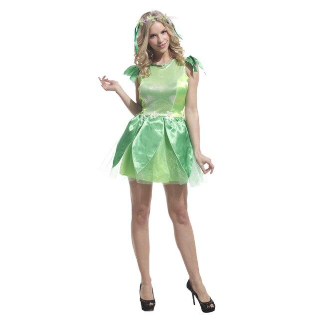 Women Novelties Lady Costume Green Elf Sprite Cosplay Tinkerbell Princess Dress Sexy Fairy Kids Dress Halloween  sc 1 st  AliExpress.com & Women Novelties Lady Costume Green Elf Sprite Cosplay Tinkerbell ...