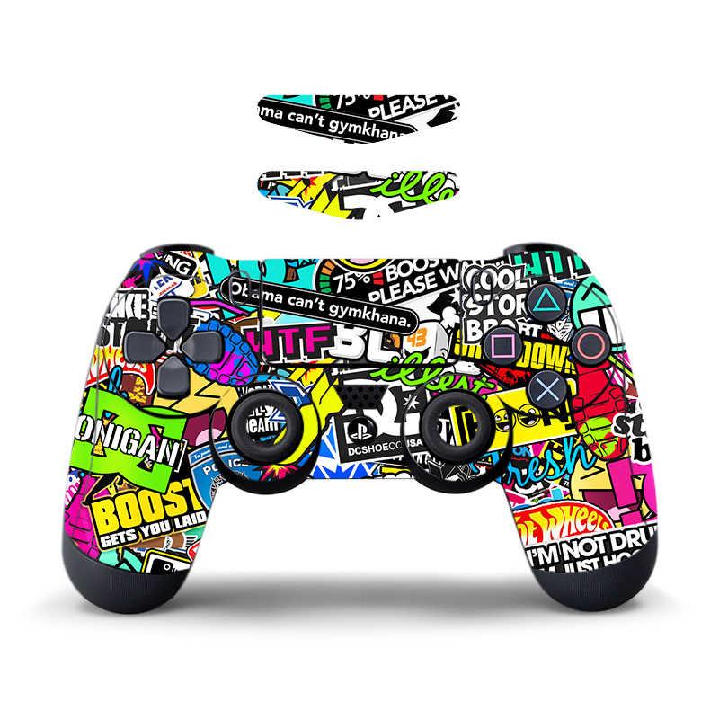 Data Frog Camo naklejki na Sony PlayStation4 kontroler do gier skóra na PS4 PS4 Pro Slim z listwa świetlna LED naklejki