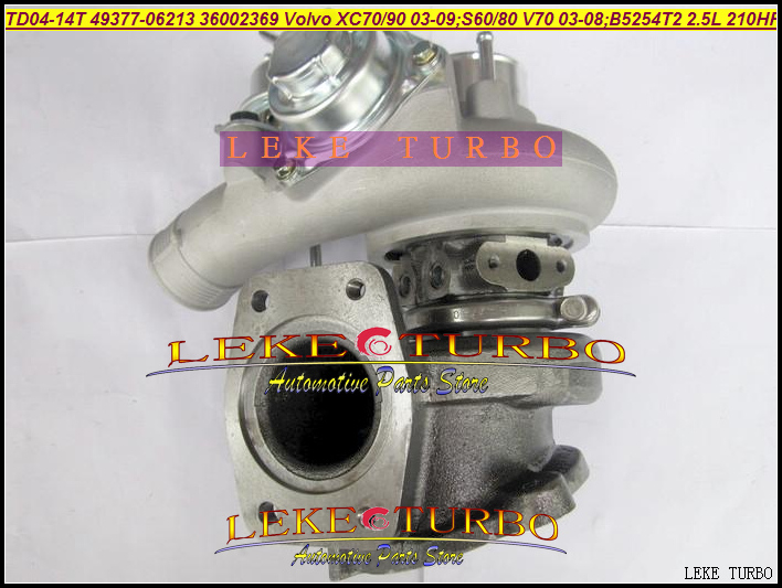 TD04L-14T-6 49377-06213 49377-06200 36002369 Turbo Turbocharger For VOLVO XC70 XC90 2003-09;S60 S80 V70 03-08 B5254T2 2.5L 210HP turbo for komats pc130 8 earth moving excavator saa4d95le 4d95le td04l 49377 01610 49377 01611 6208818100 turbocharger gaskets
