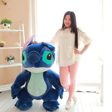 super huge lovely plush dark blue Stitch toy big creative standing stitch doll gift about 150cm