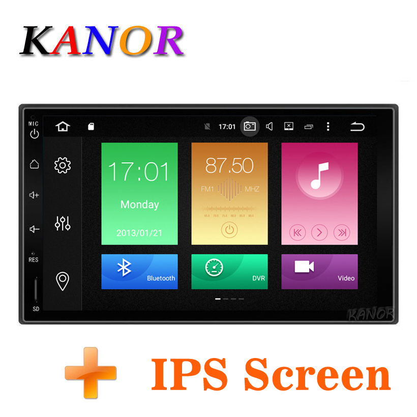 KANOR Octa Core RAM 4G ROM 32G 2 Din Android 8.0 Car Audio Stereo Radio With GPS WiFi Universal GPS Navigation Video Head Unit 7 hd digital capacitive touch screen universal 2 din android 8 0 octa core 4g ram 32g rom for nissan car audio stereo