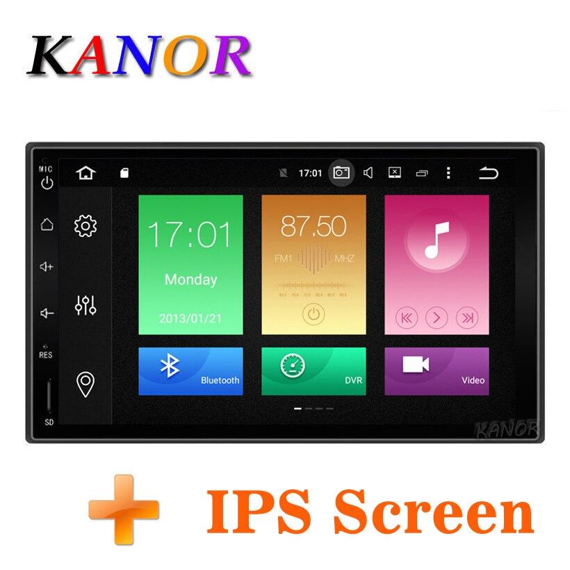 KANOR Octa Core RAM 4g ROM 32g 2 Din Android 8.0 Auto Audio Stereo Radio Mit GPS WiFi Universal GPS Navigation Video Kopf Einheit