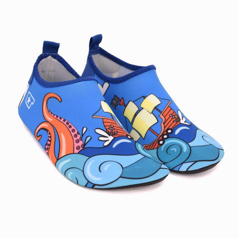 Kinderen Zomer Slippers Cartoon Dinosaurus Water Schoenen Kids Barefoot Schoenen Meisjes Strand Schoenen Jongens Zwemmen Slippers Sneldrogend