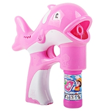 LED Baby Dolphin Bubble Toys Maker Music Lamp Light Box Birthday Funny Toys for Children Kids