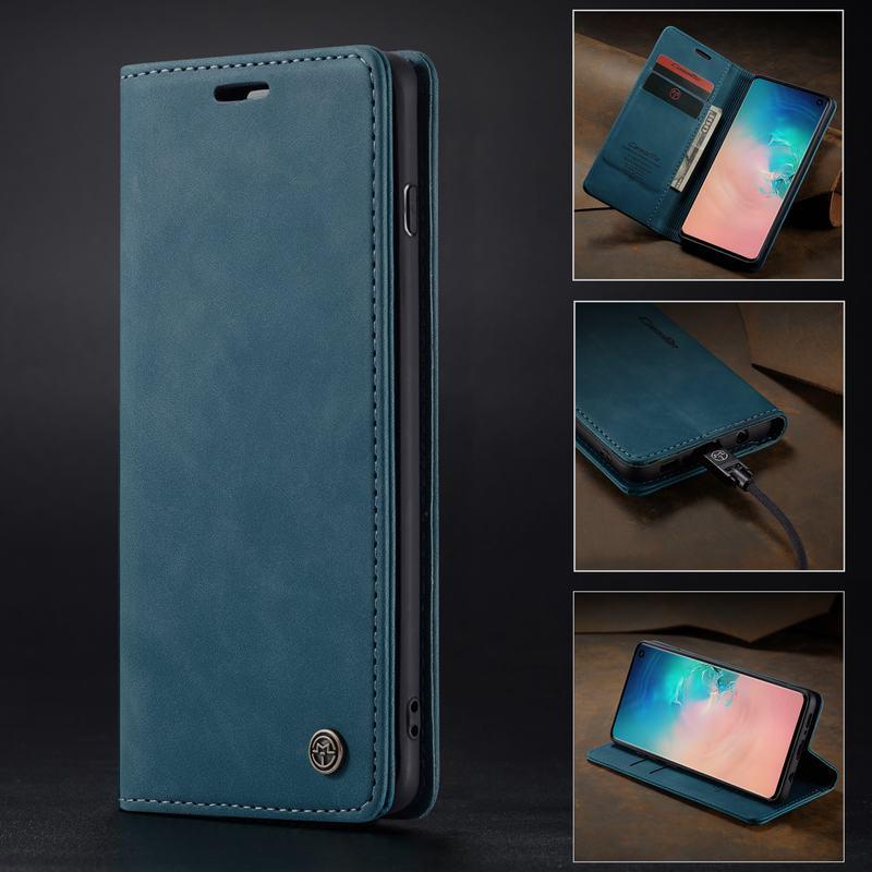 Tampa do Caso Para Samsung Galáxia Borda S8 S7 S9 S10 Plus 5G Caso de Telefone 360 Carteira de Couro Da Aleta Magnética habitação S7edge S8plus S9plus