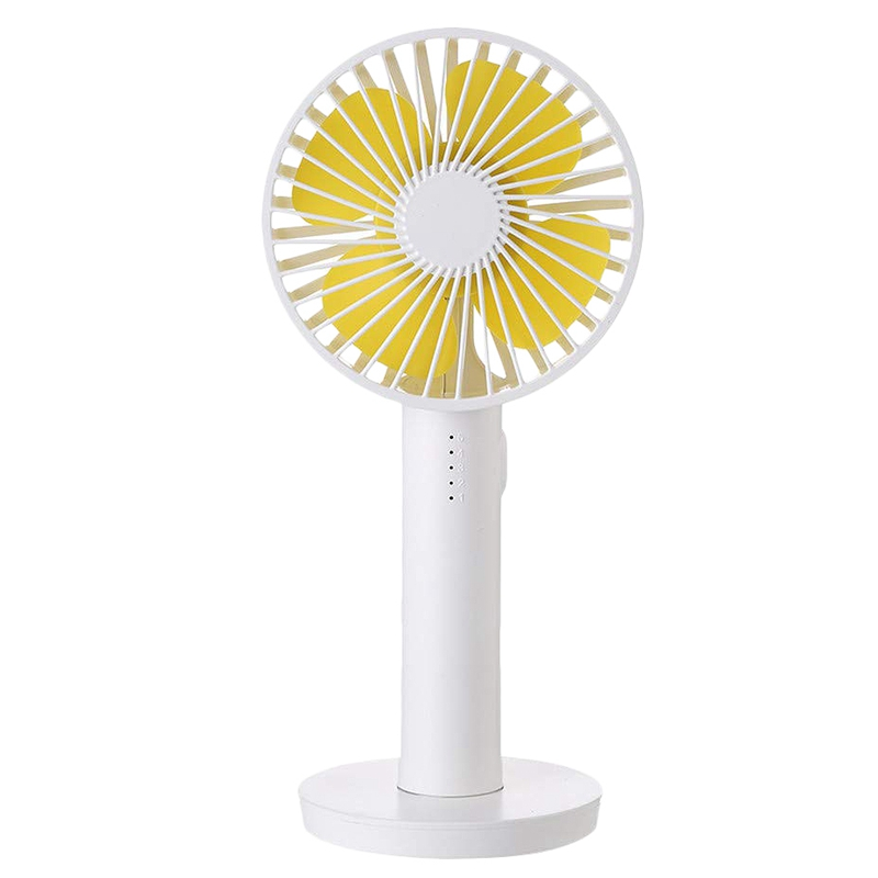 Portable USB Small Fan Handheld Mini Fan Portable Charger Portable Mirror for Travel Camping 3 Speeds Rechargeable 2000 MAh Great for Desktop Tabletop Office /& Travel