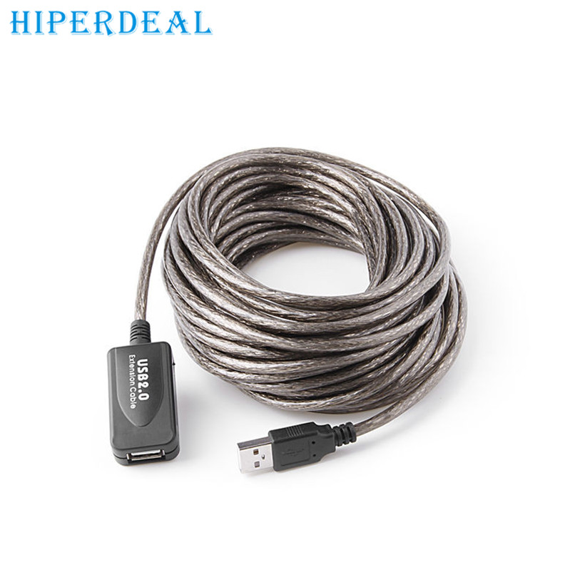 Top Department Store Store HIPERDEAL advanced cable  15Ft 5M USB 2.0 Extension Repeater Cable Signal Booster A Male To A Female 2017 1PC