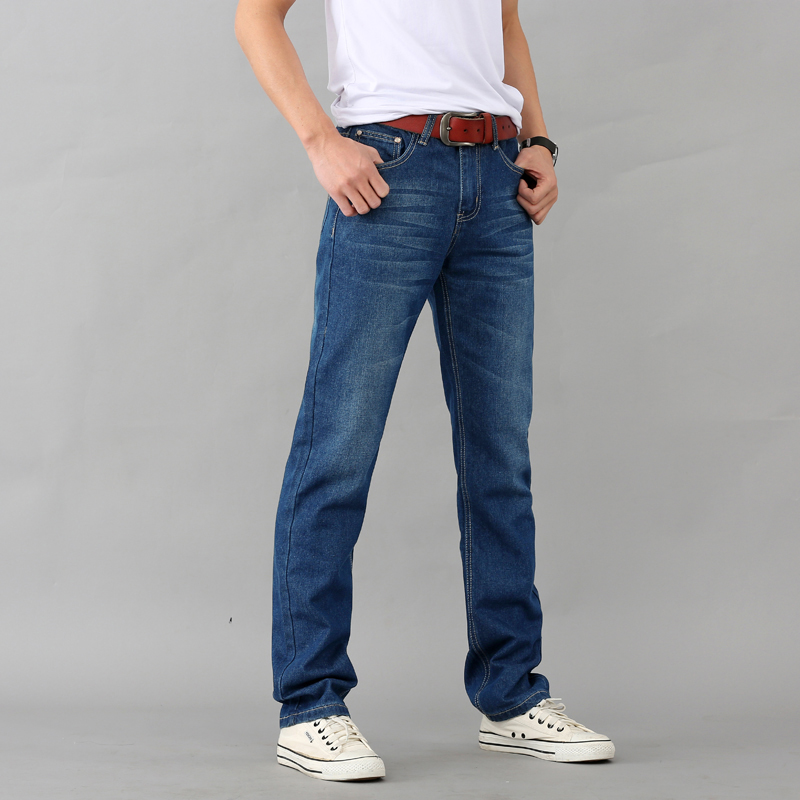 Cheap Wholesale 2019 New Men's Jeans Large Size Slim Straight Cylinder Loose Leisure Pants