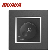 MVAVA Home Dimmer Switch Black PC Lamp Rotary Light Dimmer Dimming Control Wall Switch 110V 220V Max 500W цена