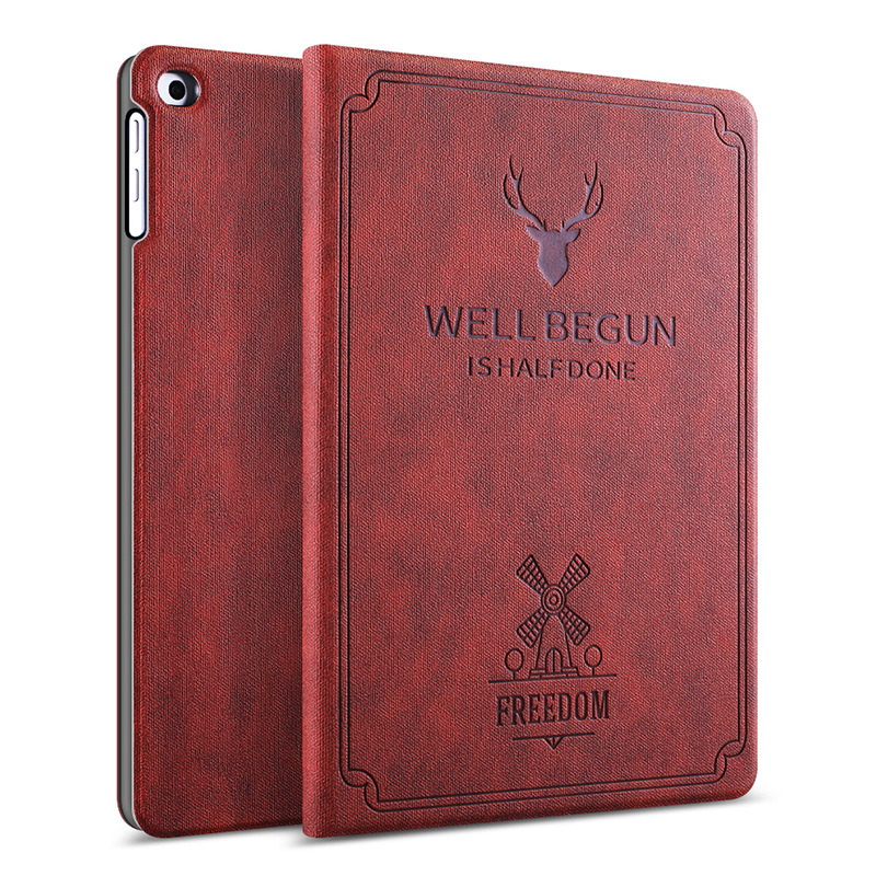 Fashion Deer Nordic Style PU Leather Smart Cover For iPad Mini 4 3 Protective Cases For Apple iPad 9.7 Case For iPad Holder gp 01 retro envelope style protective pu leather inner bag pouch case for ipad mini brown