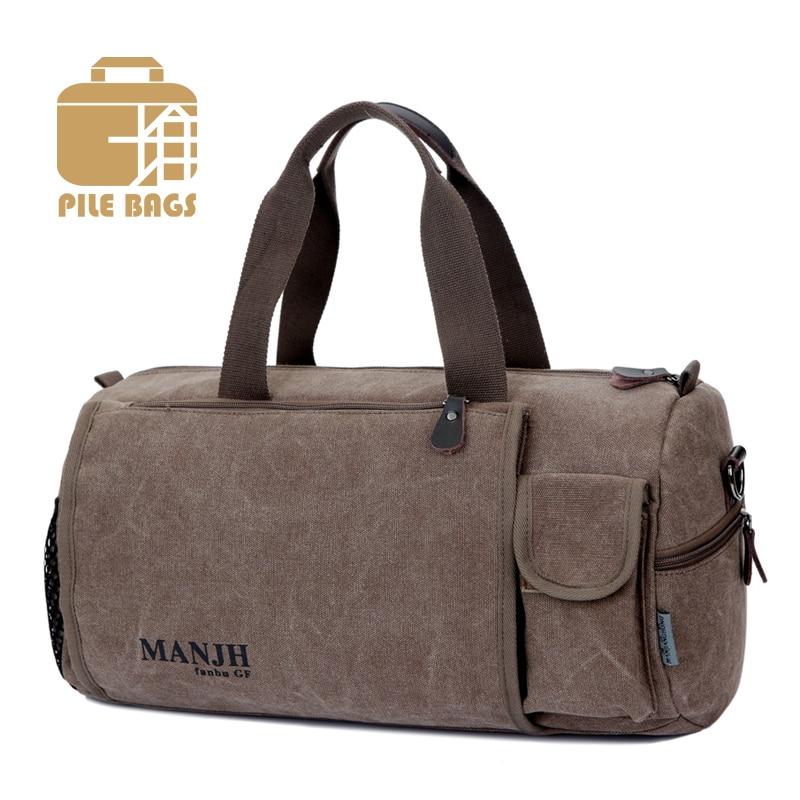 Us 18 73 45 Off Men Canvas Travel Duffle Bag Designer Brand Handbags Man Design Weekender Women Fasion For Fashion In