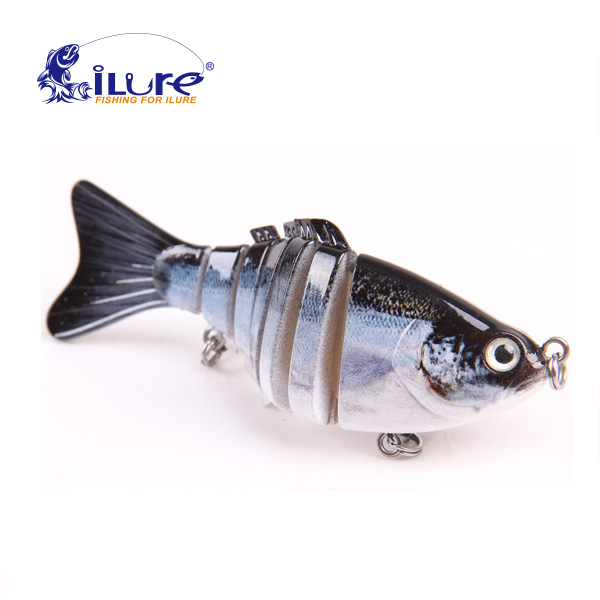 iLure Fishing Wobbler 10cm 7 Segments Swimbait Crankbait Fishing Bait Isca Artificial Para Pesca Bait Peche Hard bait jig carp 1pc wobbler fishing lures sea trolling minnow artificial bait carp 9cm 9 1g peche crankbait pesca fishing tackle zb207