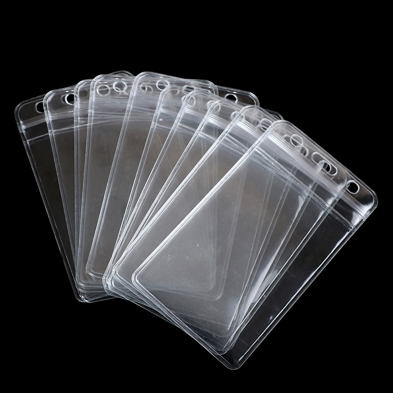 Labels, Indexes & Stamps Strict Peerless New 10pcs/lot Vertical Transparent Vinyl Plastic Clears Id Card Bag Case Badge Holder Accessories Extremely Efficient In Preserving Heat
