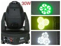 4 шт./лот, перемещение головы точечные 30 Вт света RGB с гобо эффект DMX освещения DJ оборудование