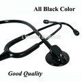 All Black New Professional Health Care Medical Estetoscopio Blood Pressure Single Head Cute Stethoscope