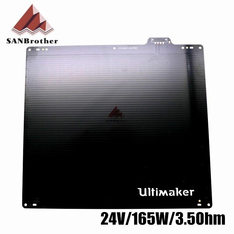 ¡3D impresora de aluminio UM2 Ultimaker 2 + Ultimaker 2 se UM2 + mesa de cama caliente 24 V 3.5Ohm 165 W de alta calidad!
