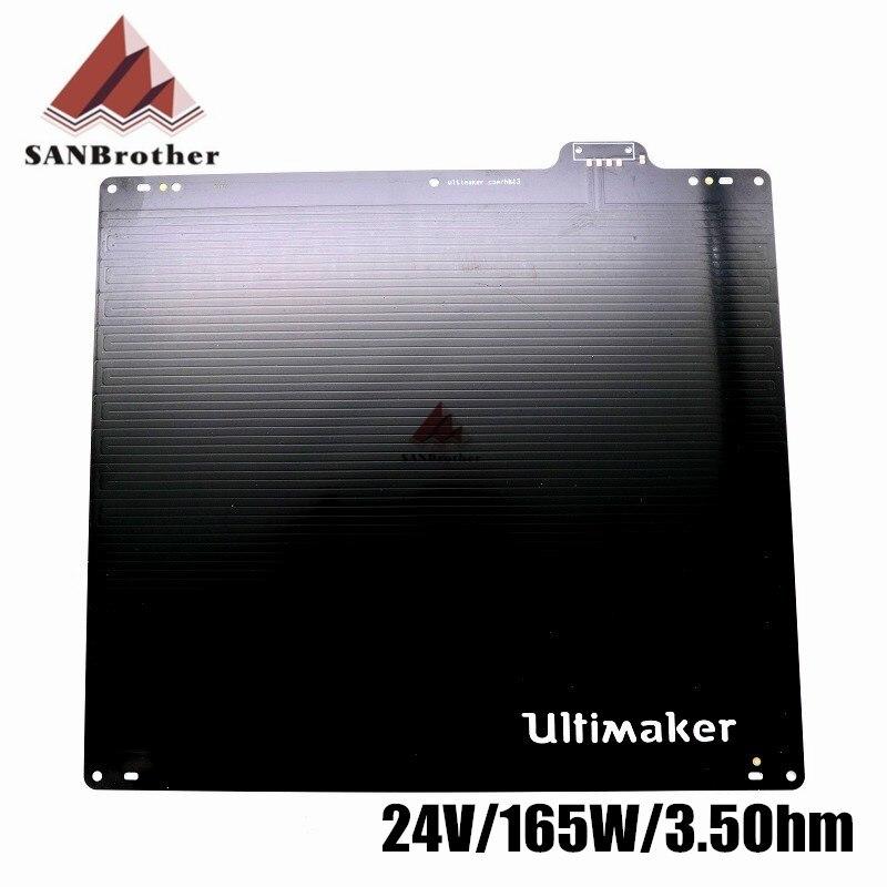 3D Imprimante En Aluminium UM2 Ultimaker 2 + Ultimaker 2 Étendu UM2 + Table D'impression Lit Chauffé 24 V 3.5Ohm 165 W Top Qualité.