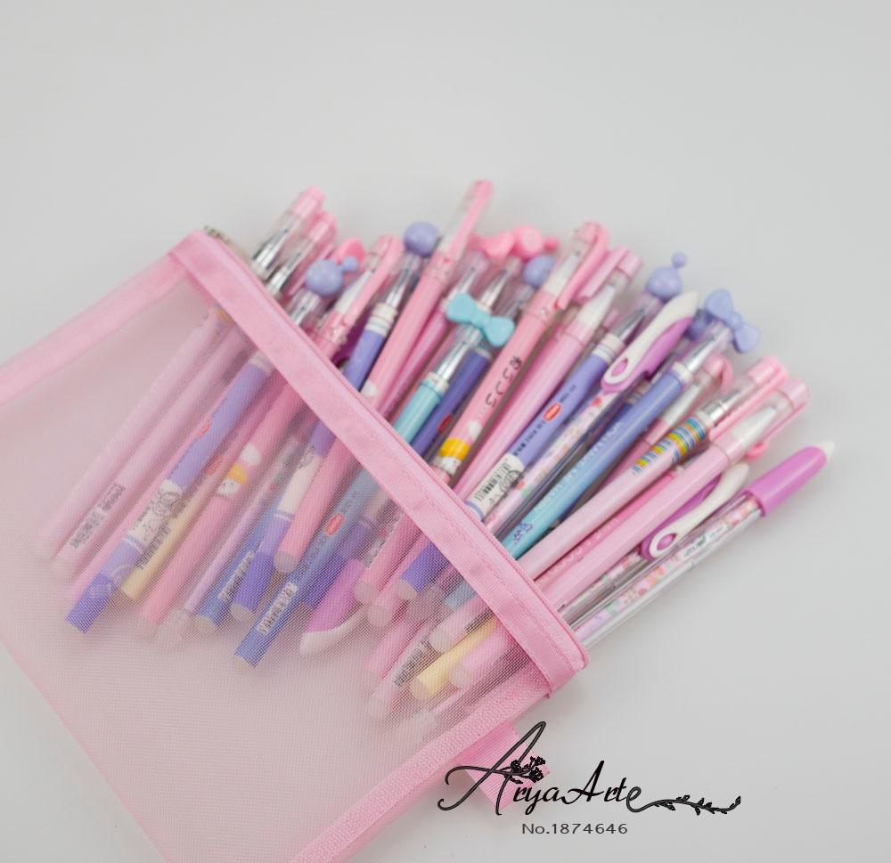 31Pcs/set  Erasable Pen Cute  Black Blue Ink Kawaii  Magic Ballpoint Pen 0.38mm For School Office Writing Supply Kids Korean