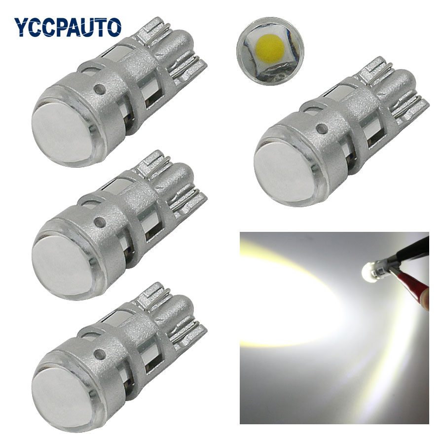 T10 W5W 168 194 CREE Led Chip Replacement Bulbs Auto Car License Plate Lights Parking Lights car-styling 2825 SMD 4PCS 5 color