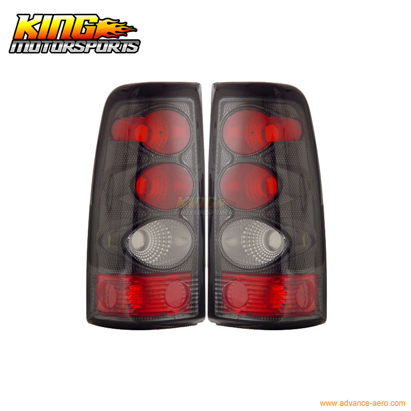 For 2003-2006 Chevy Silverado Tail Lights Carbon Lamps 04 05 USA Domestic Free Shipping for 2003 2005 honda accord 2dr led tail lights black 2004 usa domestic free shipping